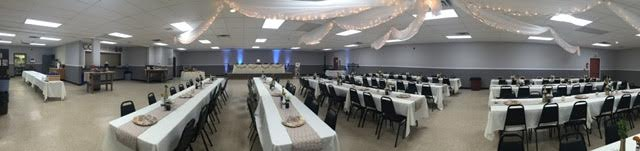 An example of a wedding reception