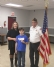 Cottage Grove VFW Post 8752 Post Commander Bruce Heil presents a $500 check to Trey Whilhelm and and his mother, Deb Brannan, in support of Trey's JDRF One Walk fundraising efforts.